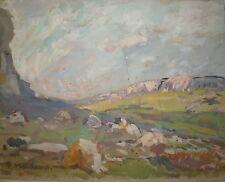 Maillaud Fernand gouache sur papier signée oeuvre originale Marseille Provence