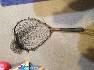 Antique Trout/Salmon Folding Collapsible Fishing Landing Net