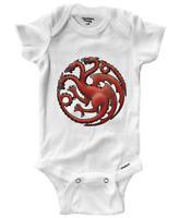 Infant Gerber Onesies Bodysuit One-Pieces Baby Gift House Targaryen Fire Blood