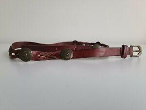 Sportsgirl Brown Leather Boho Belt S/M
