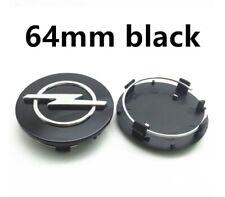 4 Cache Moyeu OPEL 64mm Diamètre Noir Centre De Roue Insigne Emblème Logo Jantes