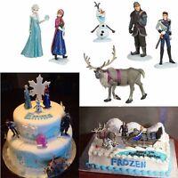 HOT Disney Frozen Anna Elsa Hans Kristoff Sven Olaf 6pcs Figures cake toppers