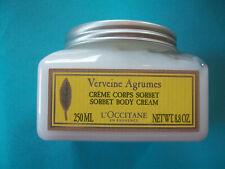 New L'Occitane Citrus Verbena Sorbet Body Cream 8.8 oz.