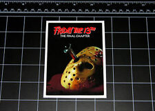 Friday the 13th Part 4 movie decal sticker Jason Vorhees Crystal Lake 80s horror