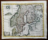 Scandinavia Sweden Denmark Norway Finland c. 1755 decorative Jeffreys map