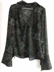 blouse femme mexx, taille 40, polyester, noir