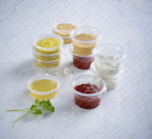Clear Plastic Reusable Sauce Containers with Lids   Cups/Pot/Tub/Deli/Takeaway