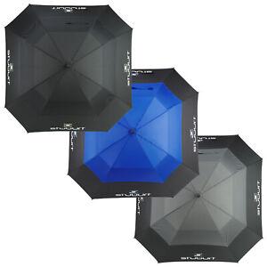 "2021 Stuburt Endurance 66"" Vented Dual Canopy Square Umbrella Golf XL Brolly"