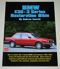 Restoration Manual BMW 3er E30 Incl. M3, Year of Construction 1982 - 1994
