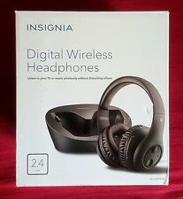 TV Insignia Digital Wireless Headphones,Rechargeable w/ Docking Station
