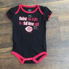 Majestic Athletic Cincinnati Reds Infant Size 6-9 Months One Piece Bodysuit Creeper Gray