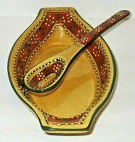 Talavera Mexican Pottery Southwestern Tan 2 pc Serving Dish