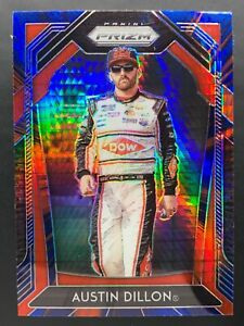 2020 Panini Prizm NASCAR Racing AUSTIN DILLON #12 BLUE & RED HYPER PRIZM CARD