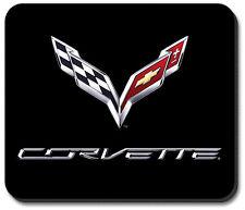 C7 Corvette Emblem Black Rubber Base Computer Mouse Pad Logo Licensed
