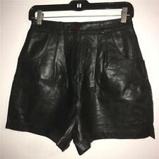 Vintage 1980's Boutique Europa Black Leather Shorts 8
