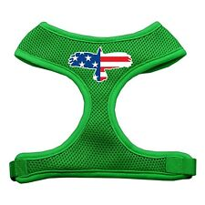 New listing Mirage Pet Products Eagle Flag Screen Print Soft Mesh Dog Harnesses, Large, E.