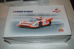 Spark Porsche 917K Winner 24h Le Mans 1970 Attwood/Herrmann #23 1/18 Scale New