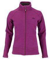 Womens Lowe Alpine Wineberry Burgundy Explorer Aleutian Fleece Jacket Size 10-12
