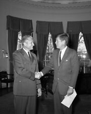President John F. Kennedy with Air Force One pilot James Swindal New 8x10 Photo
