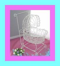 Wire Baby Buggy for Baby Shower Decorations or Centerpiece