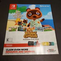 Animal Crossing New Horizons Poster Nintendo Switch Promo 24x28 Display Advert