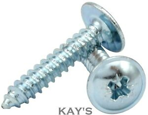 FLANGED HEAD SELF TAPPING SCREWS, POZI FLANGE TAPPERS, ZINC PLATED, No.4,6,8,10