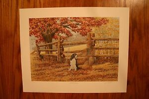 Old Friends James Lumbers Artist Signed & Numbered Limited Collectors Edition