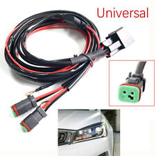 1*12V Car Wiring Connector Cable Harness High Beam Driving Light Bar Line Group