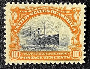 US Stamps, Scott #299 1901 10c Pan-Am Exp: Fast Ocean 2014 PF Cert GC XF 90 M/NH