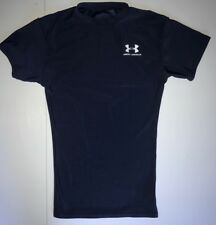 Boy's Under Armour Youth Small Fitted Short Sleeve Navy Solid T-shirt