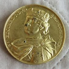 Rey Eduardo I 1230 - 1307 medalla de color oro 40 mm de reproducción Dassier