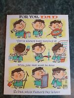 Cute Vintage 1960 Father's Day Card by American Greeting USA