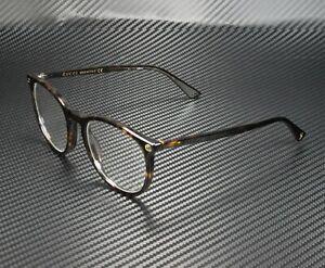 GUCCI GG0027O 002 Round Oval Havana Demo Lens 50 mm Women's Eyeglasses