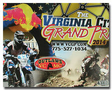 VIRGINIA CITY GRAND PRIX MOTORCYCLE CROSS-COUNTRY DESERT RACE POSTER ROSS NEELY