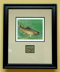 1977  Maryland First of State Trout Print Louis Frisino EST$200.00 (ESP#001)
