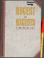 April 1941 AUSTRALIAN  DIGEST of DIGESTS WW2 110 pages VGC++ WOW!
