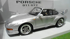 PORSCHE 911 GT2 993 Gris Silvr 1/18 UT Models 27831 voiture miniature collection