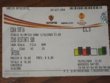 ROMA CSKA SOFIA EUROPA LEAGUE BIGLIETTO TICKET 2009/10