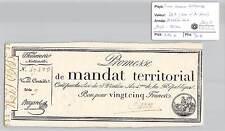 MANDAT TERRITORIAL - 25 FRANCS (AVEC LE N° DE SERIE) 28 VENTOSE AN 4 CARON