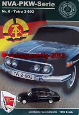DDR-PKW Modell Tatra 2-603 NVA Nr. 6 NVA-PKW Serie