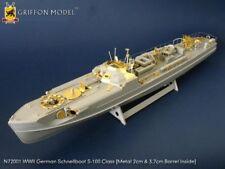 Griffon N72002 1/72 Schnellboot S-100 Flak 38 Detail Etching Parts