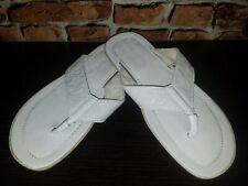 ✔ Louis Vuitton Monogram Flip Flops EU 42 US 8.5 Leather LV Sandals White Men