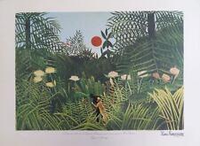 Le Douanier ROUSSEAU (Henri) : Paysage Forêt Vierge - LITHOGRAPHIE SIGNEE #1976