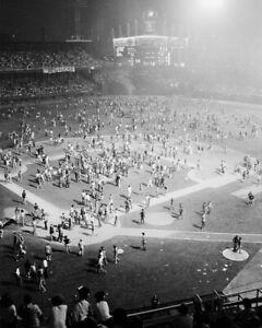 "Disco Demolition Night- 8"" x 10"" Photo- 1979- Comiskey Park- White Sox Baseball"