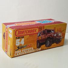 CUSTOM UNIQUE 120 box Matchbox 1968 Toyota Land Cruiser FJ40 # 54