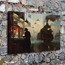 C_X466-Train, Black People Home Decor HD Canvas Print Picture Room Wall Painting