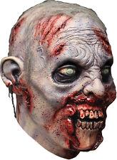 Halloween Costume ZOMBIE REVENANT CHUNKS OF FLESH LATEX DELUXE MASK Haunted NEW