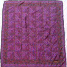 Authentique foulard MISSONI 100% soie vintage scarf  85 X 88 cm