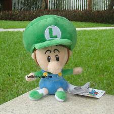 "Nintendo Super Mario Bros Son Luigi Baby 6"" Plush Toy Cuddly Stuffed Animal Doll"