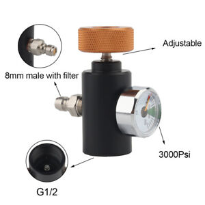 G1/2 Co2 ASA Adapter Remote Air Regulator With 3000Psi Gauge For Paintball Game
